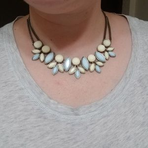 Light yellow and blue necklace